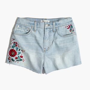 Madewell Embroidered Perfect Jean Short